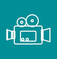 Video camera cinema icon vector