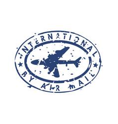 vintage postage international mail stamp vector image