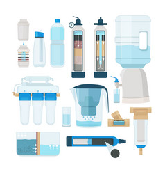 water filtration home cooler and systems for vector image