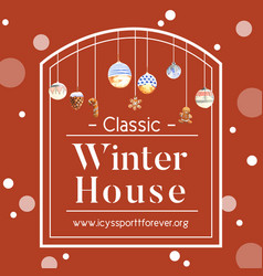 Winter home wreath design with cookies watercolor vector