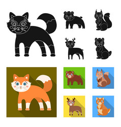 Zoo nature reserve and other web icon in black vector