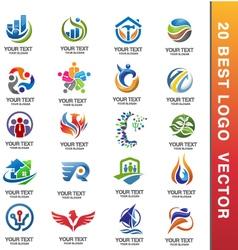 20 best corporate logo vector image vector image