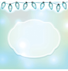 Blue Lights and Label vector image vector image