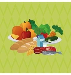 healthy food design food vector image