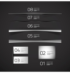 Set of web box shadows and dividers vector image