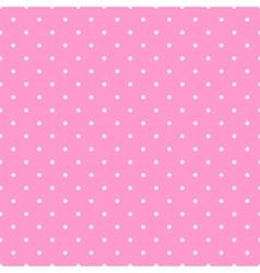 Tile white polka dots pink on background pattern vector image
