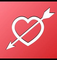 Heart Arrow Love vector image