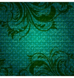 Retro background with antique floral elements vector image