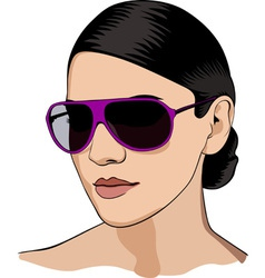 Girl in glasses vector image vector image