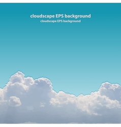 Summer beautiful cloudscape vector image vector image