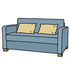 Blue couch vector image vector image