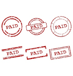 Paid stamps vector image vector image