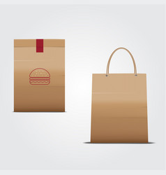 paper bag package vector image