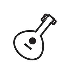 Stylish black and white icon indian musical vector