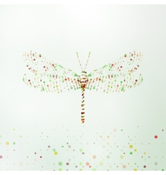 Abstract dragonfly vector image