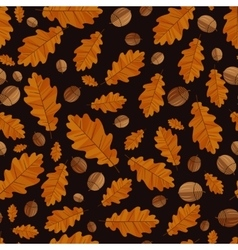 Autumn oak leaves Seamless background vector image
