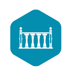 Balustrade icon simple style vector