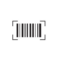 barcode icon signs and symbols icon vector image