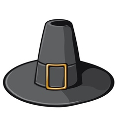 Black pilgrim hat vector