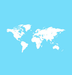 blank white world map planet earth vector image
