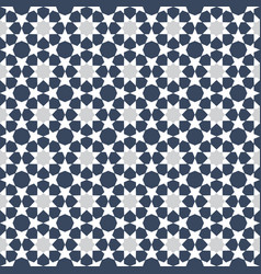 Blue moroccan motif tile pattern vector