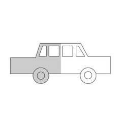 Car cartoon icon vector