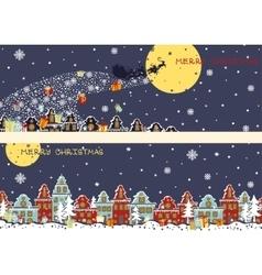 Christmas horizontal bannersSanta Claus coming to vector