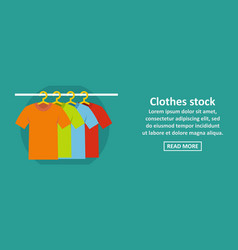 clothes stock banner horizontal concept vector image