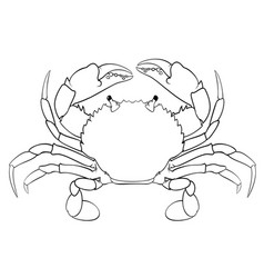 coloring book for children red crab vector image