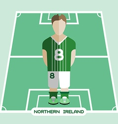 Computer game Northern Ireland Soccer club player vector image