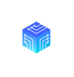 concept blockchain logo vector image