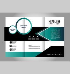 Corporate business tri-fold mock up brochure vector