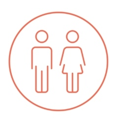 Couple line icon vector image