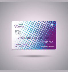 Credit card bright blue and purple design vector