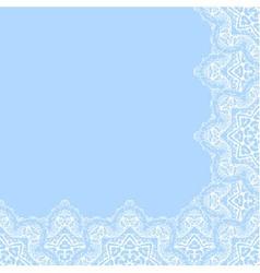 Decorative corner border vector