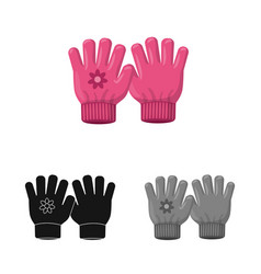 Design of glove and winter icon collection vector
