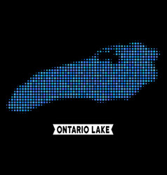 Dot halftone ontario lake map vector