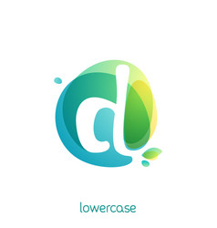 ecology lowercase letter d logo overlapping vector image