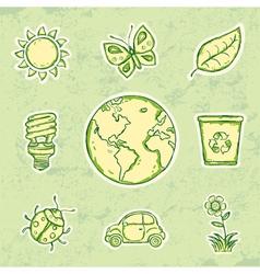 Ecology Set vector image