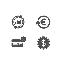 Exchange currency cashback and update data icons vector