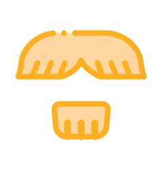 Face mustache chin hair icon outline vector