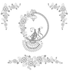 Fairy wedding birds vector