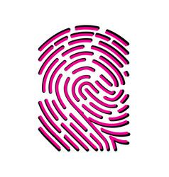 fingerprint scan biometric concept icon vector image