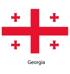 Flag of the country georgia vector