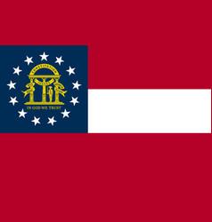 flag of the usa state of georgia vector image