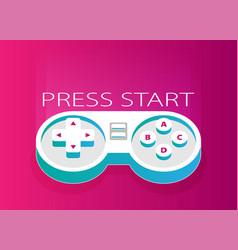 flat joystick pink vector image