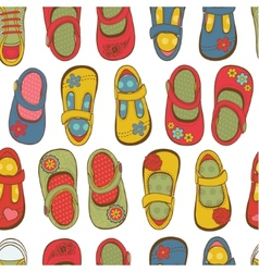 Girl shoes pattern vector