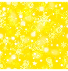Golden winter seamless pattern vector image