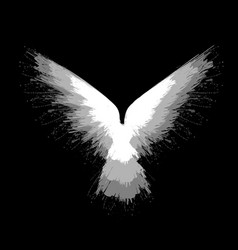gray blots raven vector image