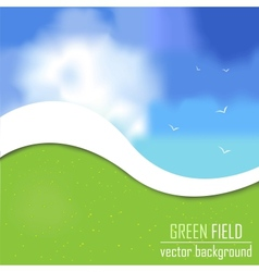 Green field background vector